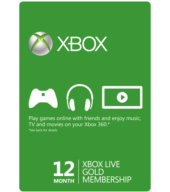 Xbox Live Gold 12 Months Membership Global
