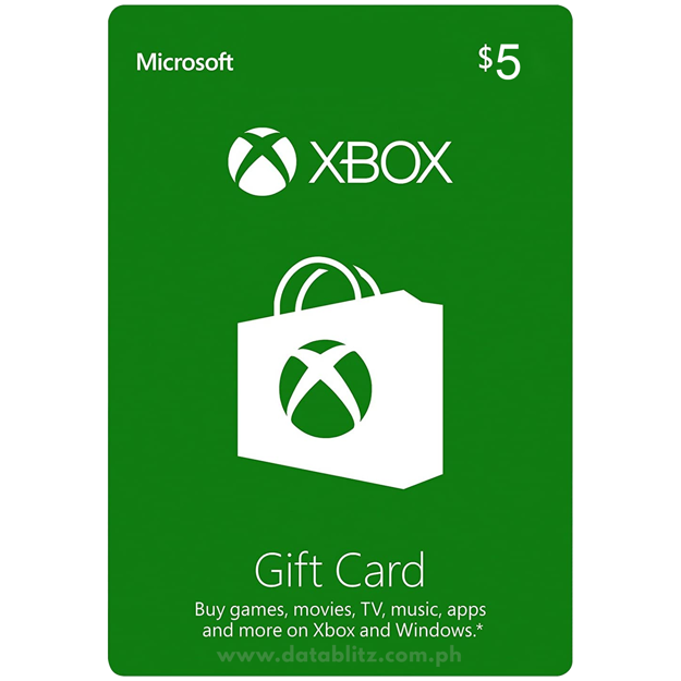 Picture of Xbox $5 Gift Card (US)
