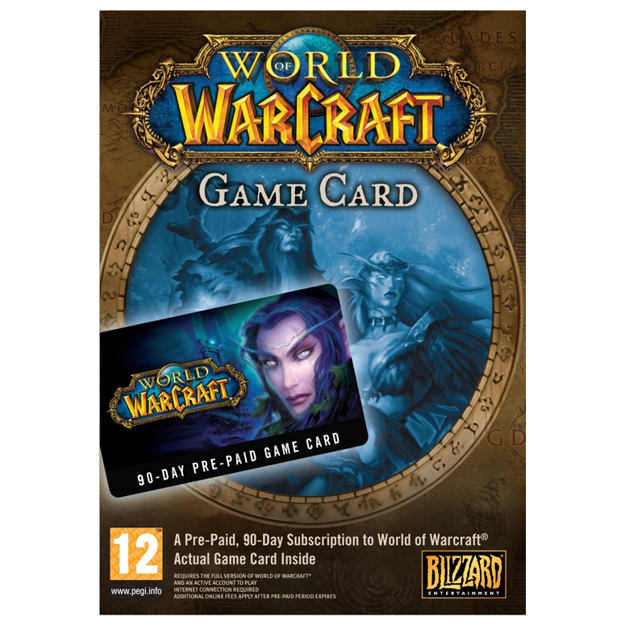 Picture of World of Warcraft 90 DAYS Pre-Paid Time Card US